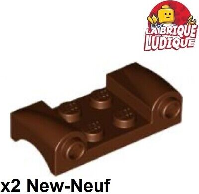 LEGO PART 93590 VEHICLE MUDGUARD 2 X 4 WITH HEADLIGHTS REDDISH BROWN X2