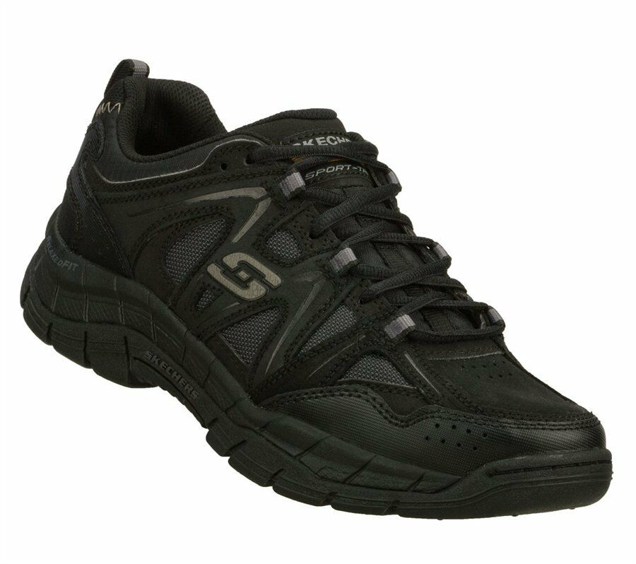 Skechers Mens Relaxed Fit  Rig 51290 Black BBK Athletic shoes