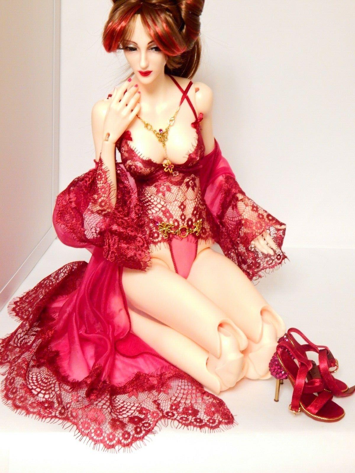 Negligee peigschwarz dress Doll, DollShe Craft, 65 sm., BJD 1 3 SD outfit Clothing