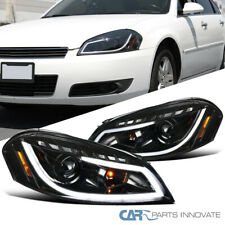 For Chevy 06 13 Impala 06 07 Monte Carlo Pearl Black Led Drl Projector Headlight Fits 2006 Impala