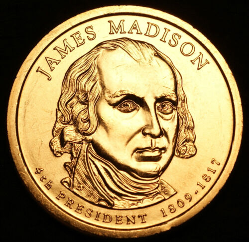 2007 D James Madison Presidential Dollar ~ Pos B ~ From U.S Mint Roll