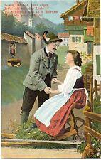Mann, Frau, Liebespaar, Lederhose, Dirndl, 1911