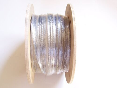 800 ft reel 7x19 Galvanized Wire Rope Cable  3//16/""