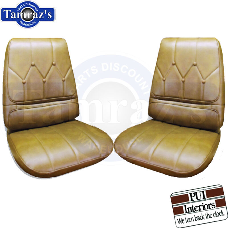 PUI 1970 Camaro Deluxe Sandalwood Front Buckets Seat Covers