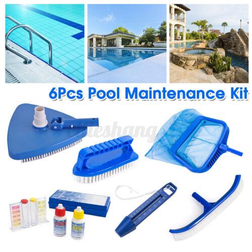 Premium Inground Above Ground Pool Cleaning Kit Vacuum Maintenance Accessories