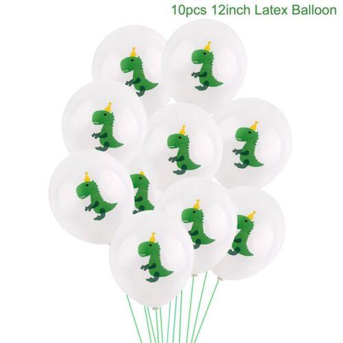 "10PCS//set  Jungle Dinosaur Printed Latex Balloon 12/"" Kid Baby Shower Party Decor"