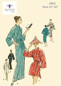 """1950/'s Vintage Sewing Pattern Women/'s Dressing Gown Robe House Coat Bust 42/"""""""