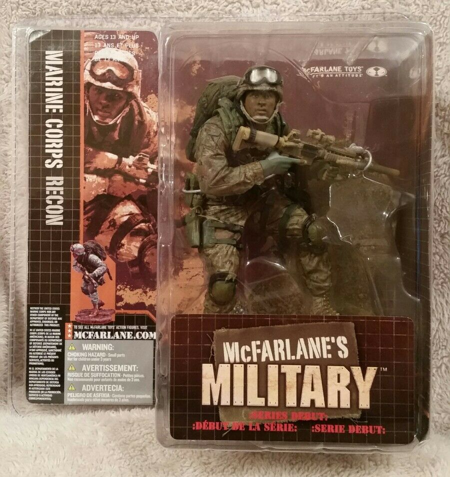 McFarlane's Military  MARINE CORPS RECON 2005 Debut Series (African American)