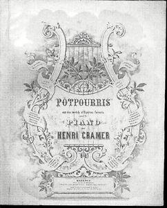 Potpourri-aus-034-Tristan-und-Isolde-034-von-Henri-Cramer-alte-uebergrosse-Noten