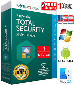 Details about KASPERSKY TOTAL Security 2019 / 1 Device / 1 Year / Regions-  US / Download 7 84$