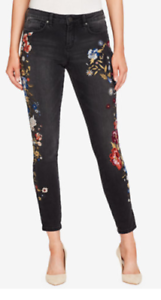 NEW Womens William Rast Perfect Embroidered Skinny Jean-26-Twilight Rewind--