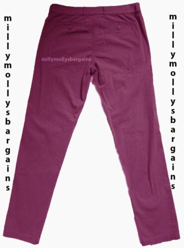 NUOVA linea donna viola Marks /& Spencer Pantaloni Chino Taglia 12