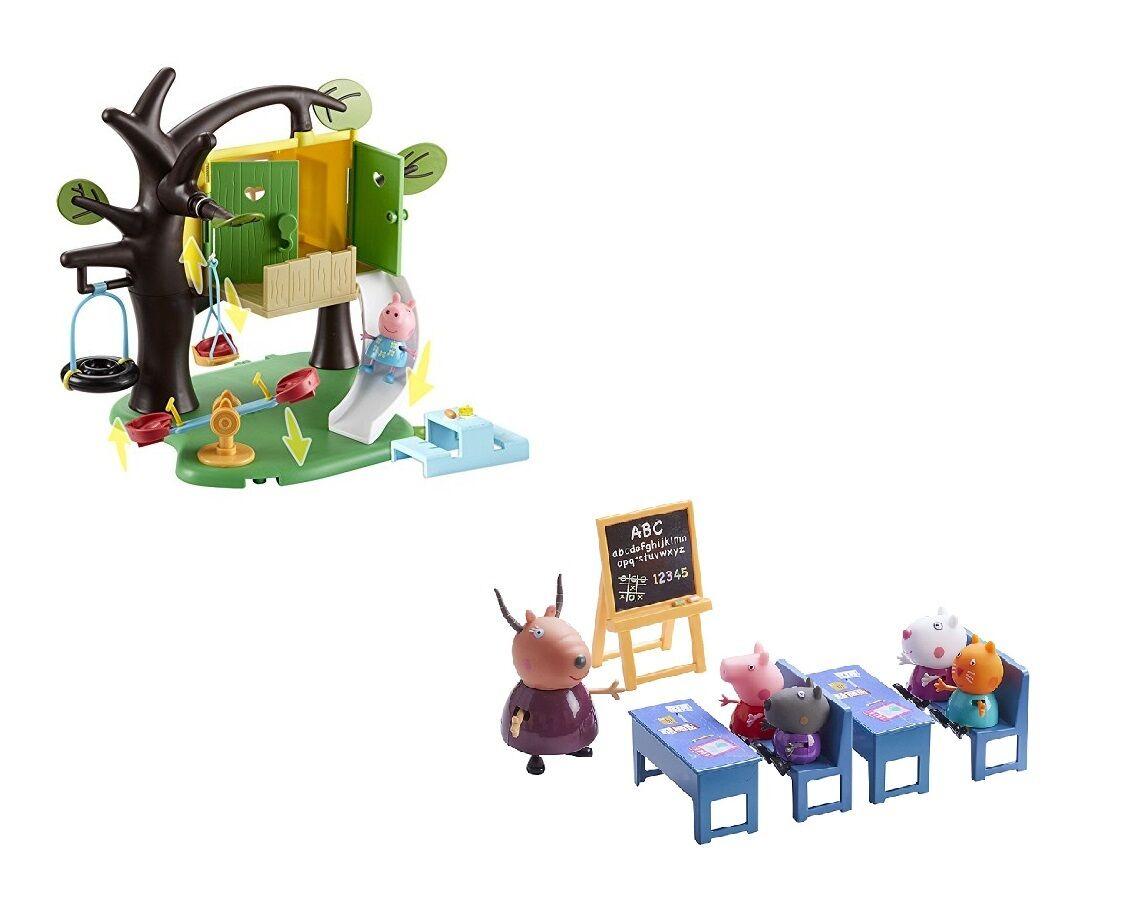 Peppa schwein de peppa baumhaus & aula lote parque infantil mercado alter 3 +