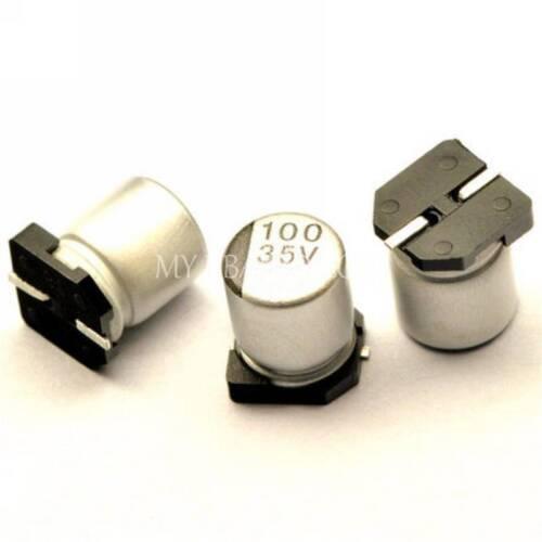 50PCS 100uF 35V 100MFD 35Volt SMD Electrolytic Capacitor 6mm×7mm