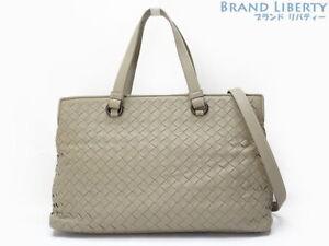 Auth BOTTEGA VENETA Intrecciato Nappa Medium 2 WAY Hand bag 408674 ... 1f48af7b0a1e7