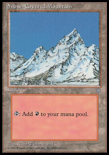 Snow-Covered Mountain Ice Age MTG Magic Common NM