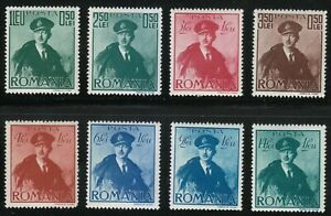 Romania-1940-MNH-Mi-617-624-Sc-B119-B126-King-Carol-II-Romanian-air-force
