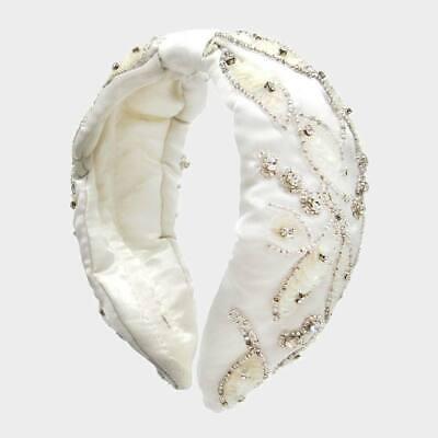 Parker Sparrow Multi Color Floral Bead Embellished Knot Headband