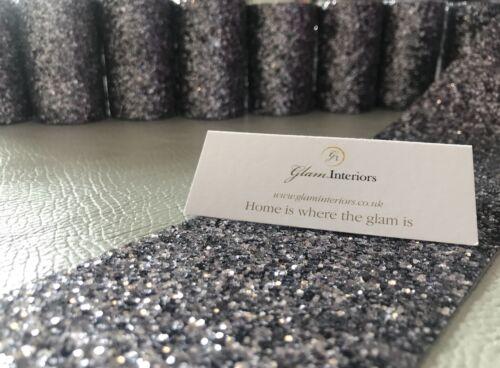 7 Pack Grade 3 Gunmetal Grey Glitter Fabric Rolls Borders