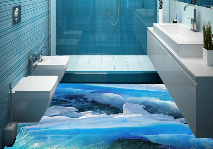 3D Glacier Water 7 Floor WallPaper Murals Wall Print Decal AJ WALLPAPER US Lemon