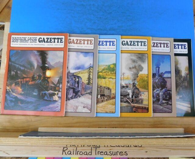 Narrow Gauge & Short Line Gazette Complete Year 1999 6