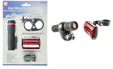2 Pc Bicycle Light Set - 1 Watt Zoom Front Light 3 LED Red Tail Light Safety
