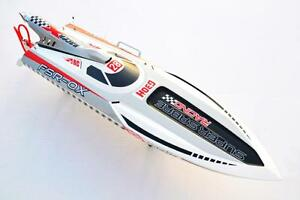G30H-Gasoline-Gray-Prepainted-RC-Boat-Hull-Only-for-Advanced-Player