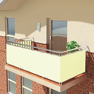 Premium Balkon Sichtschutz Windschutz 100 Blickdicht Balkon
