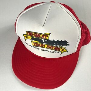 Indianapolis-Union-Station-Hat-VTG-Foam-Front-Snapback-Cap-The-Great-Train-Store
