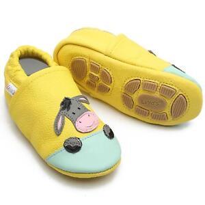 Liya's Krabbelschuhe Hausschuhe Lederpuschen Turnschläppchen - #699 Esel in gelb