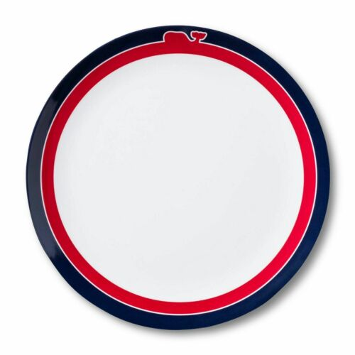 4pc Set VINEYARD VINES Target WHALE LINE MELAMINE Dinner /& Salad Plate