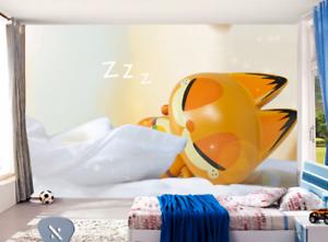3D Schlafenkatze Malerei 8696 Tapete Wandgemälde Tapeten Bild Familie DE Summer