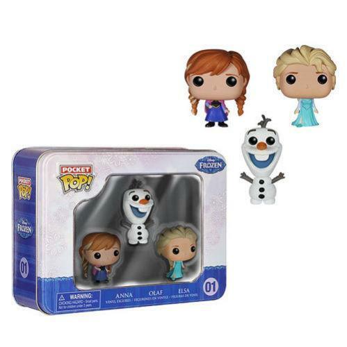 Frozen Funko Pocket Pop Set Elsa Anna Olaf 5 CM Mini Figure Disney #1