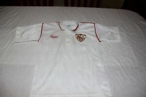 CAMISETA-DE-FUTBOL-VINTAGE-SEVILLA-FC-BUKTA-TALLA-135-NINO-MUY-COTIZADA-SHIRT