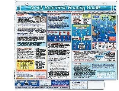 New Boating Guide Quick Reference Card davis Instruments 128