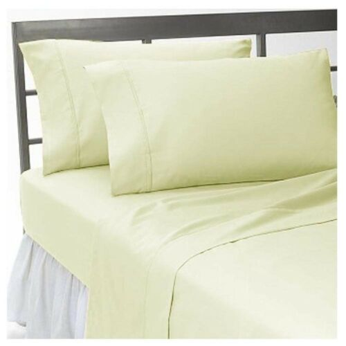 "1000 Thread Count 100/% New Egyptian Cotton 15/"" Deep Pocket Sheet Set Solid"