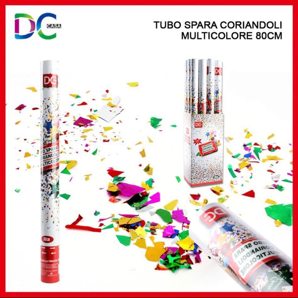 TUBO SPARA CORIANDOLI ColoreeeATI MULTIColoreeeE 80 CM MATRIMONIO PARTY PARTY PARTY FESTA NUOVO 2508e0