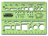 -chartpak Electrical Drafting And Design Templates Basic Lighting Fixture Symbol