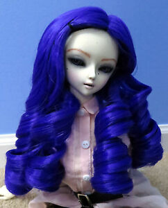 Doll-Wig-Giant-Curls-Indigo-Purple-BJD-Ball-Jointed-Doll-Size-7-8-9-NEW