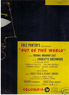 Out Of This World 1950 Charlotte Greenwood Original Cast