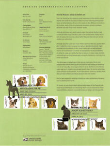 #1012 44c Animal Rescue: Adopt A Shelter Pet #4451-60 Souvenir Page