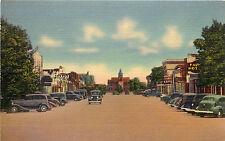 Linen Postcard Silver Avenue Street Scene Deming NM  Luna County