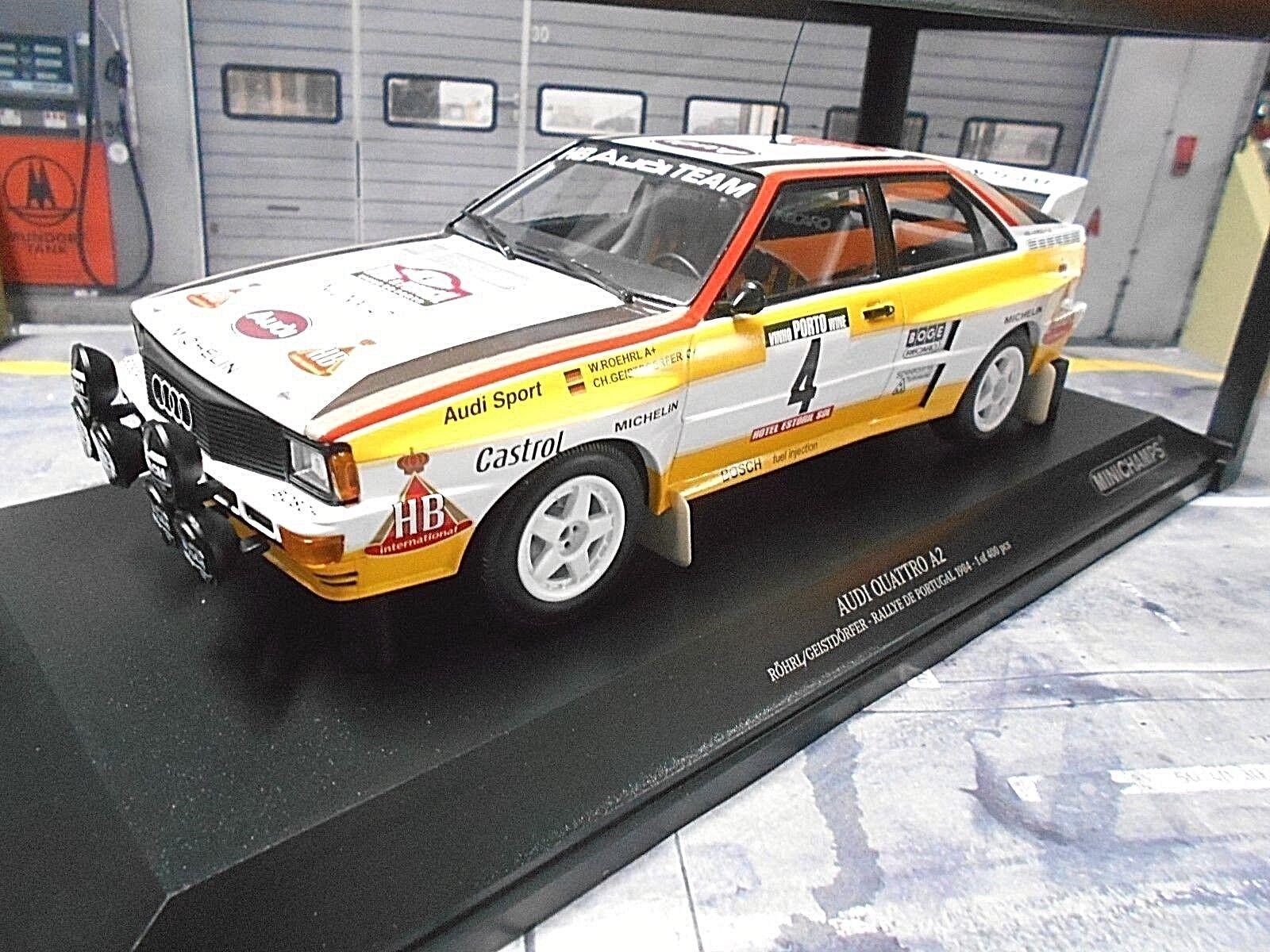 Audi Quattro Rallye Gr. Gr. Gr. B 1984 PORTUGAL TAP #4 Röhrl H B Limited MINICHAMPS 1:18 | Insolite  e1038d