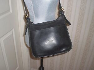 Image is loading VINTAGE-COACH-CLASSIC-ZIP-LEGACY-BLACK-LEATHER-SHOULDER- 3b60f26e65