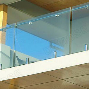 Great-1XStair-handrail-Glass-Spigots-Pool-Fence-Frameless-Balustrade-Post-Clamps