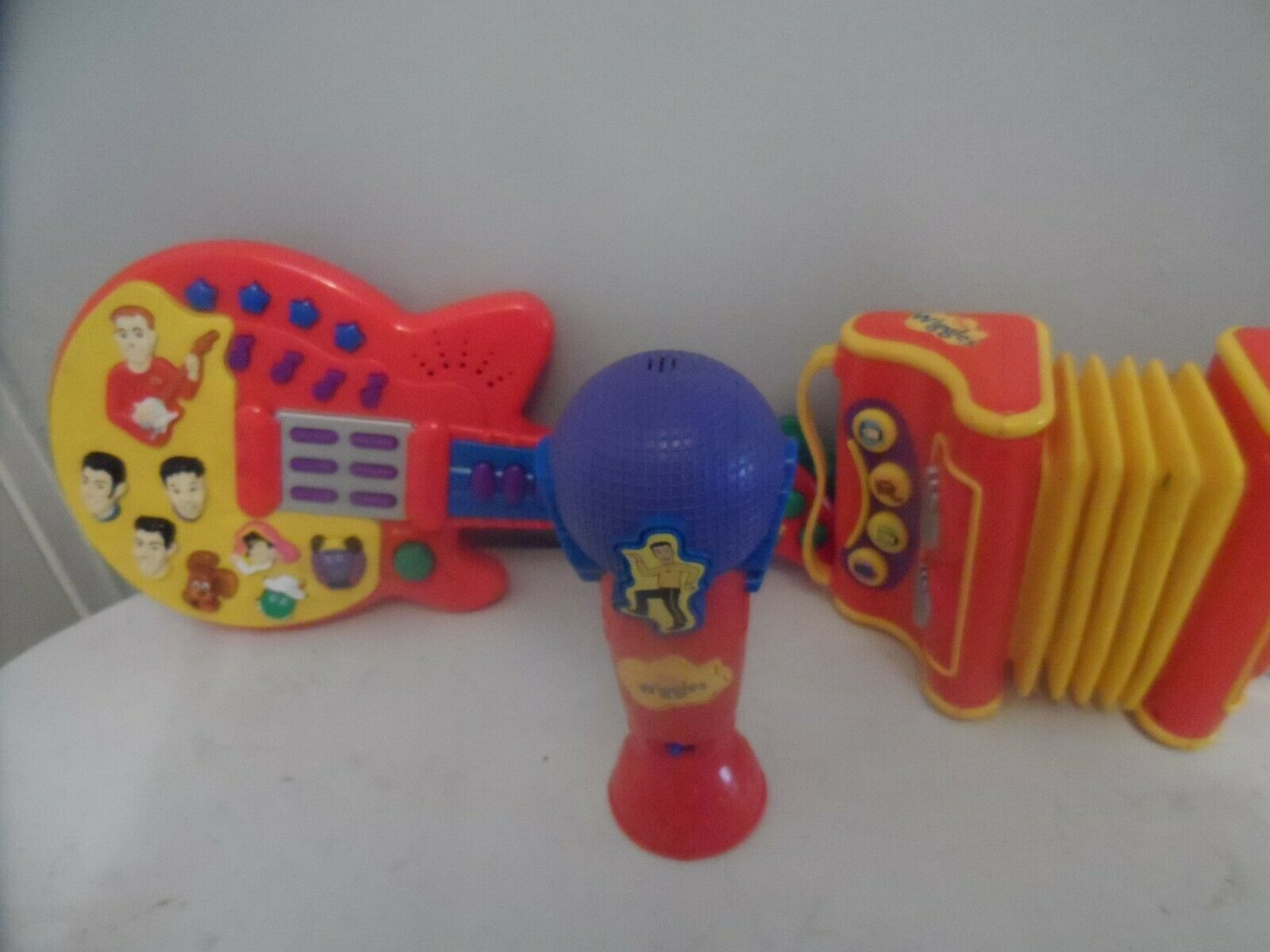 The Wiggles Guitar Accordian & Sing with me Microphone Instruments