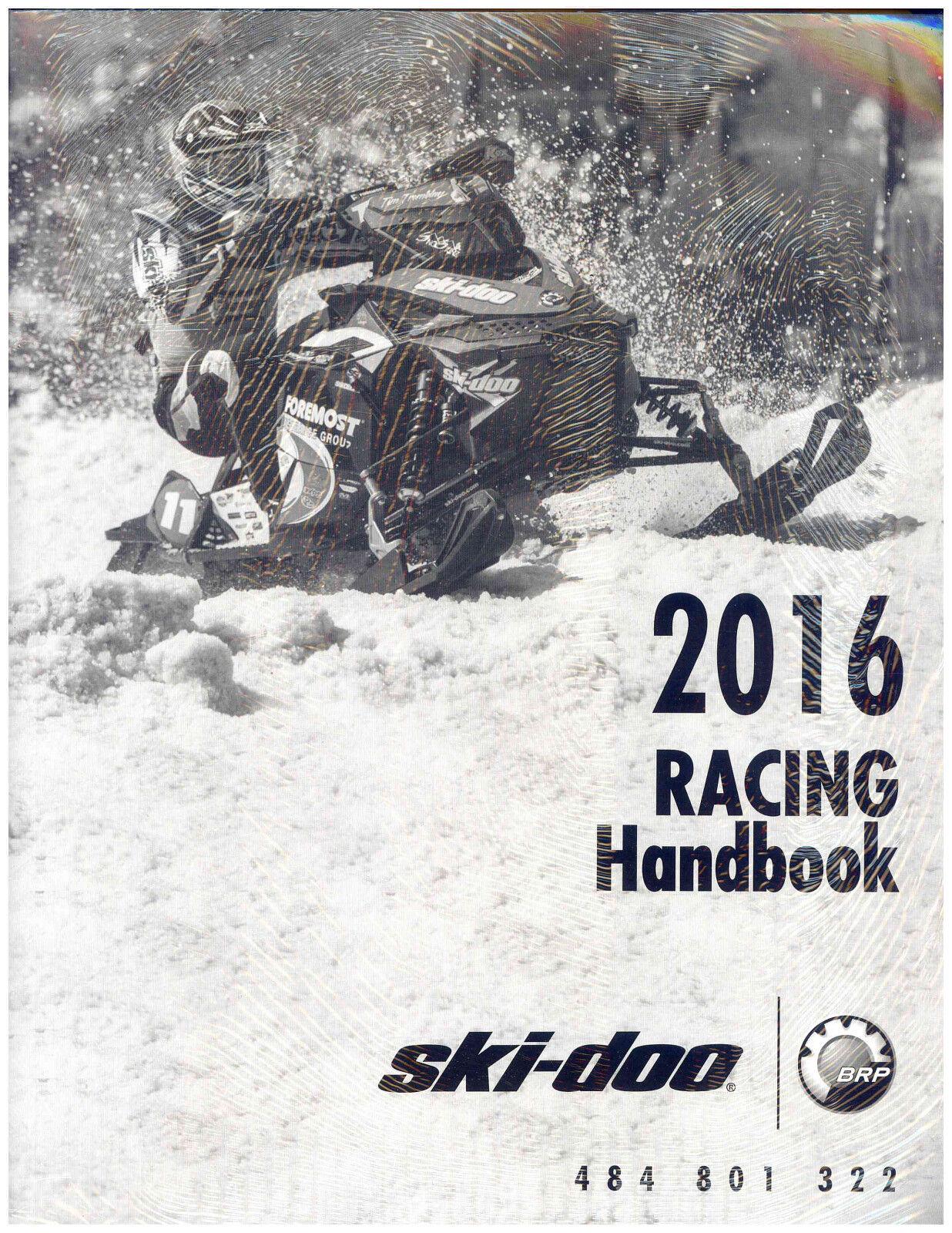 2016  SKI-DOO RACING HANDBOOK 484801322  discount