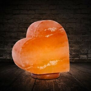HIMALAYAN-Salt-Lamp-Romantic-Heart-Lamp-Hand-Crafted-BNew-Authentic