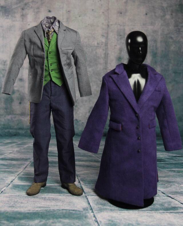 1 1 1 6 Joker Heath Ledger Costume Suit 2.0 Batman For DX01 DX11 Hot Toys SHIP  USA  3a671f
