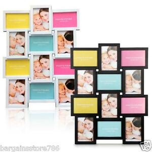 "NEW STYLISH PHOTO PICTURE FRAME HOLDS 12 PHOTOS APERTURE MULTI COLLAGE 4"" x 6"""